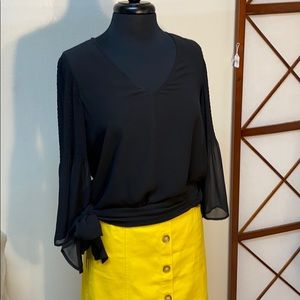 French Connection Black Blouse with Tie waist